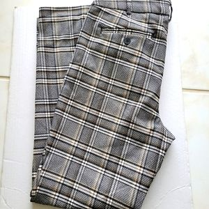 MASSIMO FABRO Straight Cut Checked Trousers